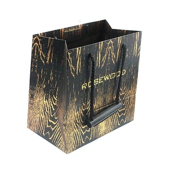 China manufacturer customized printed recycled paper bag with handle
