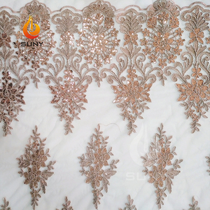 Turkey Dress Fabric Cord Sequins Embroidery Mesh Lace