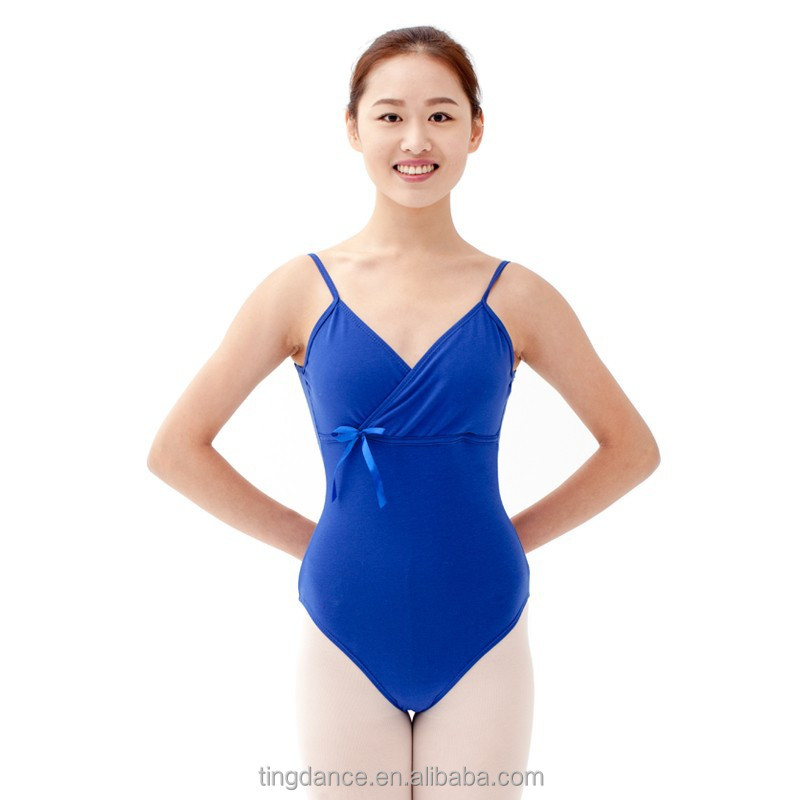 bowknot camisole cotton adult leotard