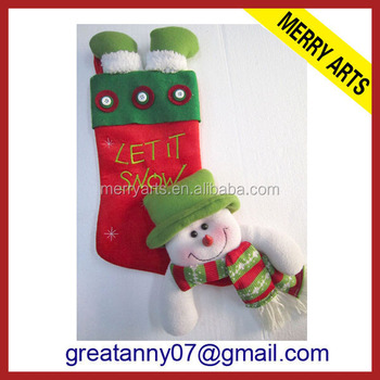 futian market yiwu china online shopping stockings embroidery animal christmas decorations stocking