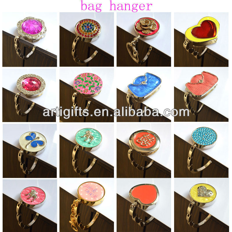Wholesale Handbag Hooks Metal Table Stand Custom Folding Purse Bag Hanger