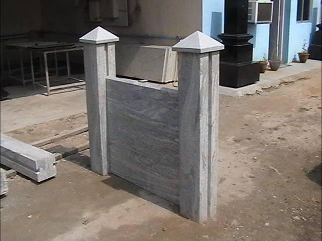 Granit zaun geflammt und zusammengebaut zaun, gitter & tür produkt ...