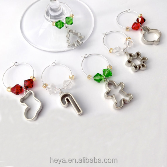 Christmas Ornament Wine Charm for Present