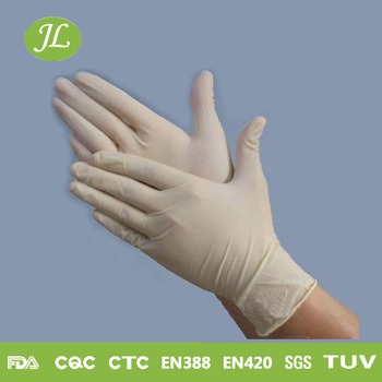 Top rated medical grade white disposable nitrile vinyl certificated gloves