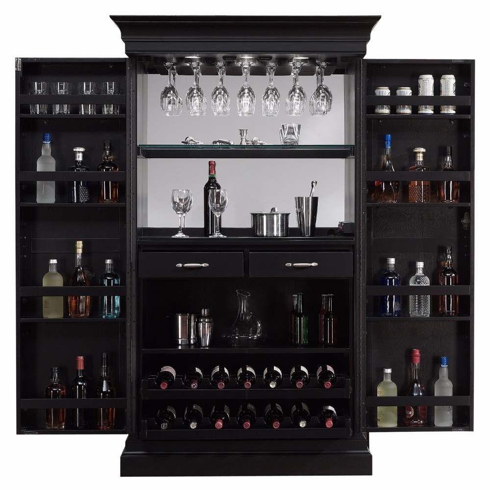Factory Customized Black Home Bar Wine <strong>Cabinet</strong>