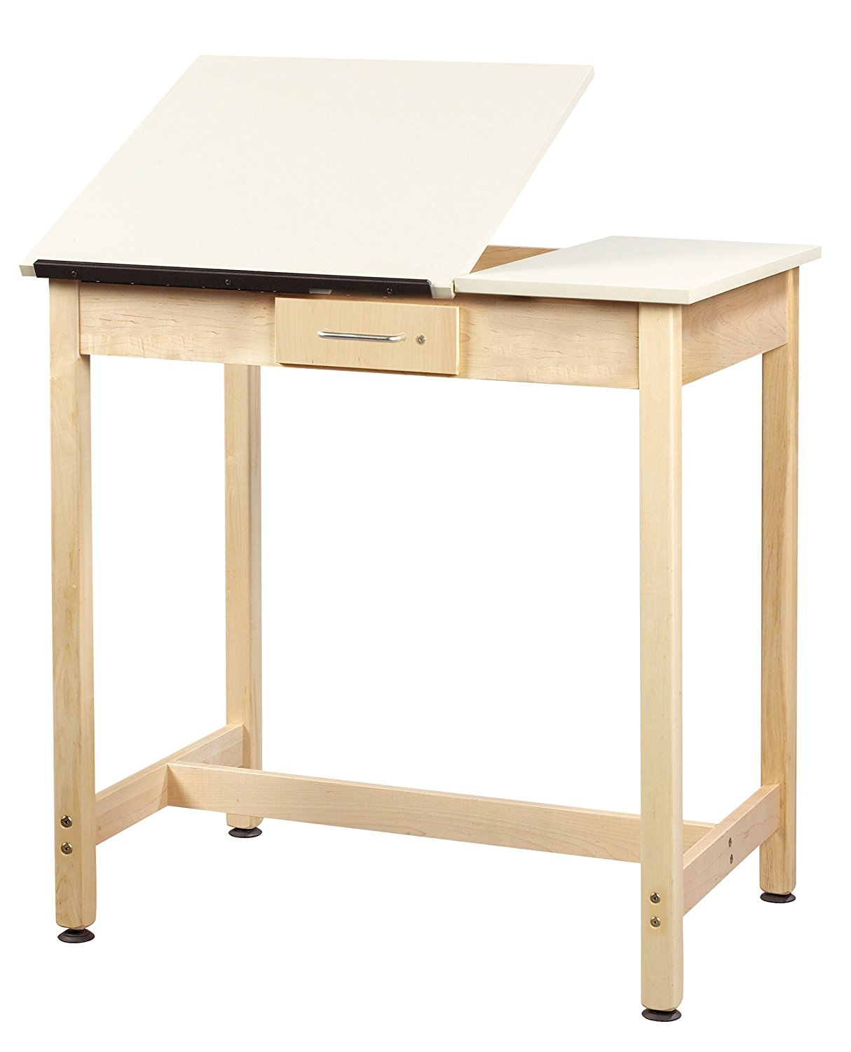 """Diversified Woodcrafts DT-3SA37 UV Finish Solid Maple Wood Art/Drafting Table with 2 Piece Top, 36"""" Width x 36"""" Height x 24"""" Depth"""