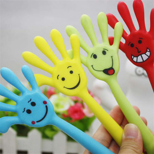 Promotional hand finger flexible bendable pens gift 3d printing plastic ball point pens