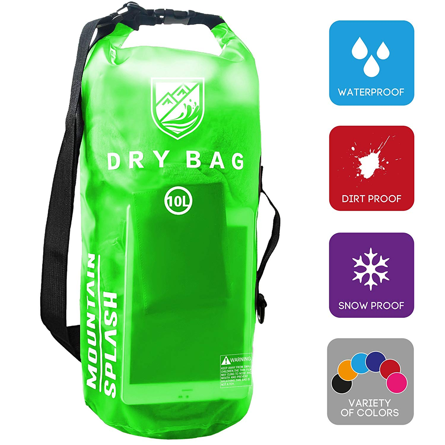 Boating Vacation. Waterproof Dry Bag 5L//10L//20L-Water Resistant Lightweight Backpack with Handle-Floating Dry Storage Ocean Bag Keeps Gear Impervious to Water-Perfect for Kayaking Birthday Gift
