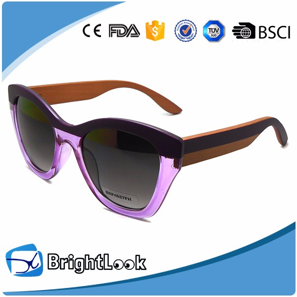 High Quality Bright Vision Polarized Wood Sunglasses