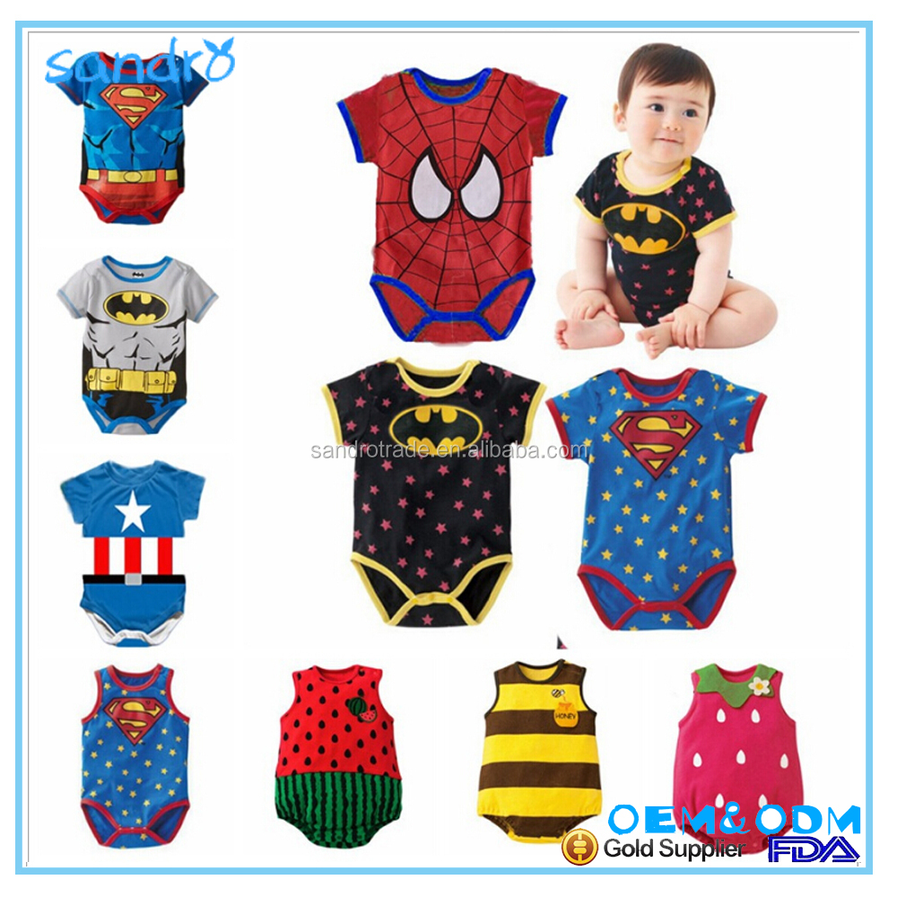 Ins explosion, pure cotton Superman, male baby triangle climbing suit, conjoined garment