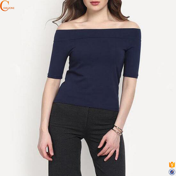 Off the shoulder t shirt impression en chine price china