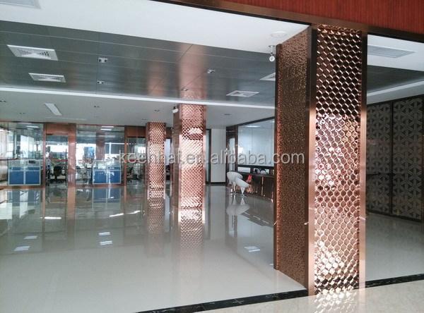 Decorative interior stainless steel wall cladding system - Decorative columns interior design ...