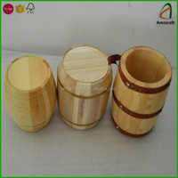High Quality Factory Price 100G Wood Coffee Tea Storage Barrel
