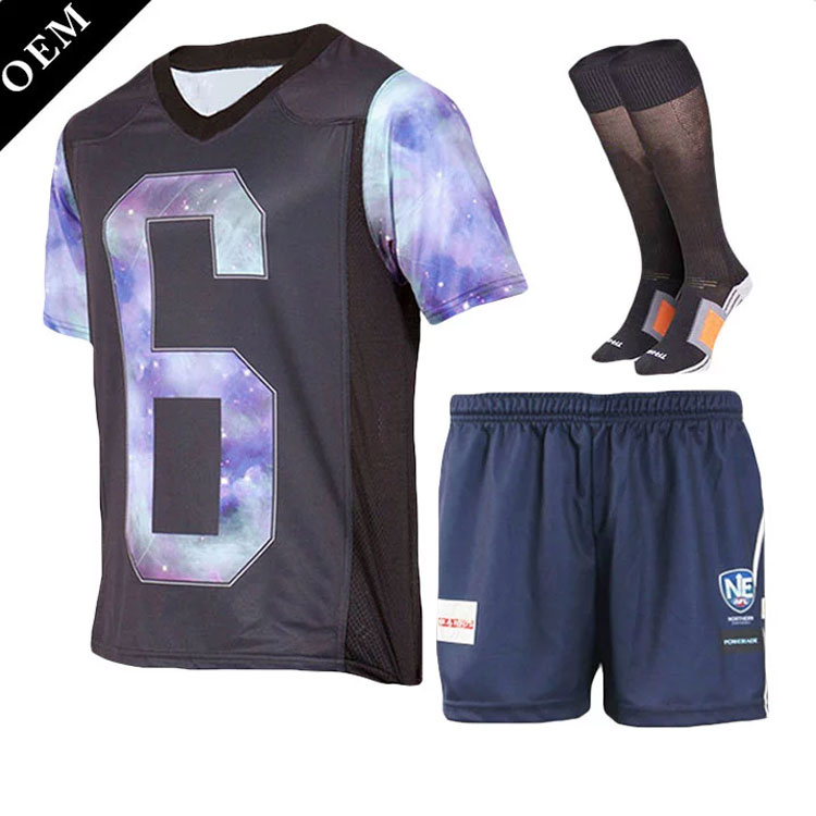 Youth new style black green training soccer uniform set customized cheap soccer jersey