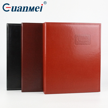 Personalized Black Leather Cover Scrapbook Screw Post Bound Photo Album A4 Size File Folder Box Pp Pocket Slip In For Wholesale Buy Paper Slip Sheet