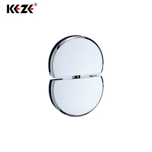 Light Duty 0 Degree Custom Made Chrome Finished Mirror Glass Door Oval Arc Flat Shower Pivot Hinges For Cabinets
