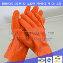 Cuff Blue PVC Fully Coated Rubber Dot Anti-skid Work Gloves