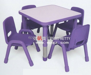 C Shape Children Table and Chair SetHand Painted Kids Table and Chairs of Daycare & C Shape Children Table And Chair SetHand Painted Kids Table And ...