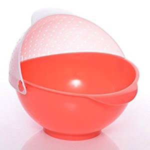 CCWY Kitchen Door Lek Yuen water basket creative money-Basket plastic water filter by large fruit hospitality tray, watermelon red