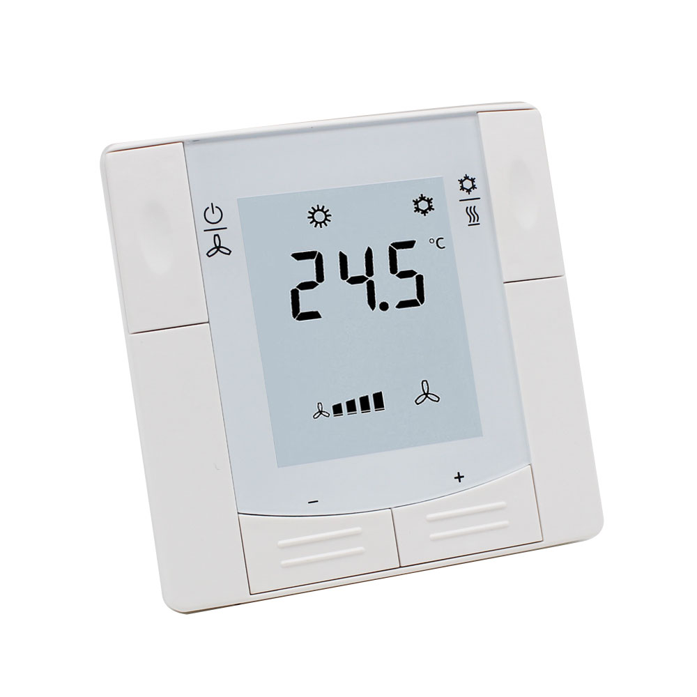 Flush Mounted Air Conditioning Temperature Controller Fan Coil Thermostat for HVAC System