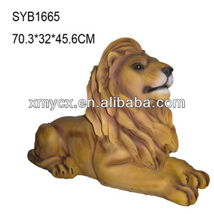 Garden ornaments resin lion statue