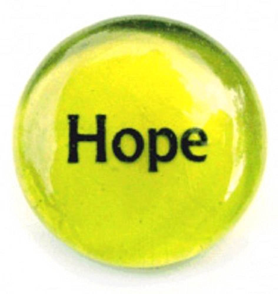 Hope Colored Glass Imprinted Recovery Sobriety Stones
