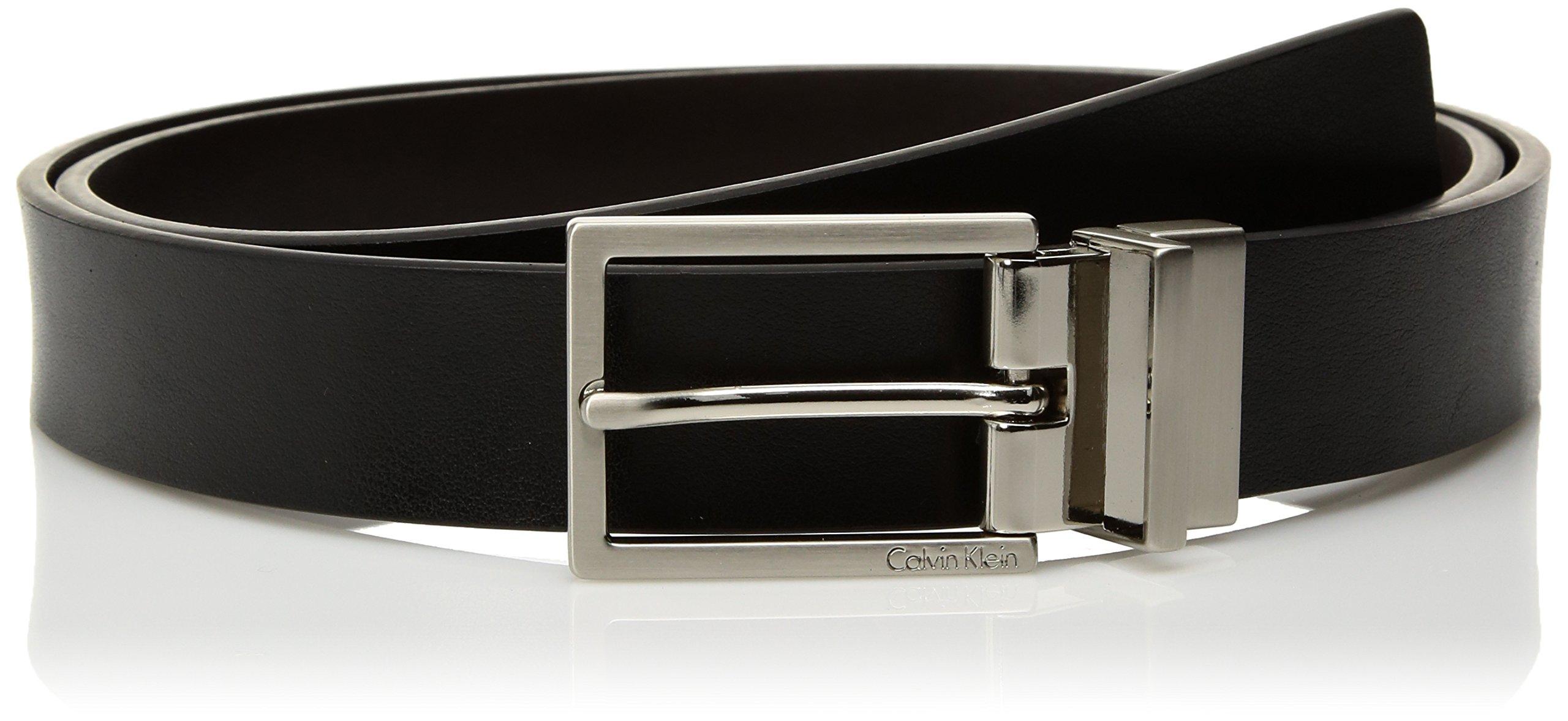 cb72e01c455 Get Quotations · Calvin Klein Women s 30mm Rev Flat Strap Self Leath W Logo