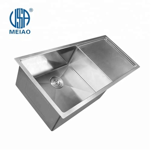 italian composite modern design kitchen stainless steel drainboard kitchen sink