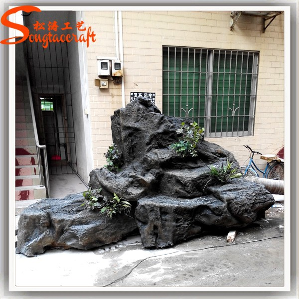 China Wholesale Landscaping Rock Fake Fiberglass Fake Slate Rock