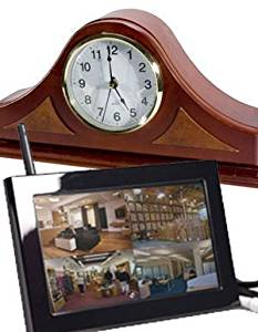 EyeSpySupply Wireless Covert Mantel Clock With LCD Monitor and Remote View