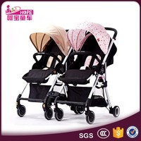 Luxury twin stroller type european style fashion baby double stroller for kids
