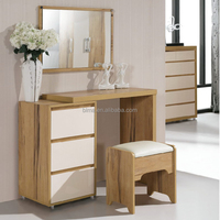 WHITE BEDEROOM SET MDF DRESSING TABLE MIRROR WITH DRAWER