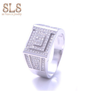 Chinese Fashion Gent Jewellery Gold Bling 925 Silver Man Pave Diamond Ring 585 Hot Jewelry