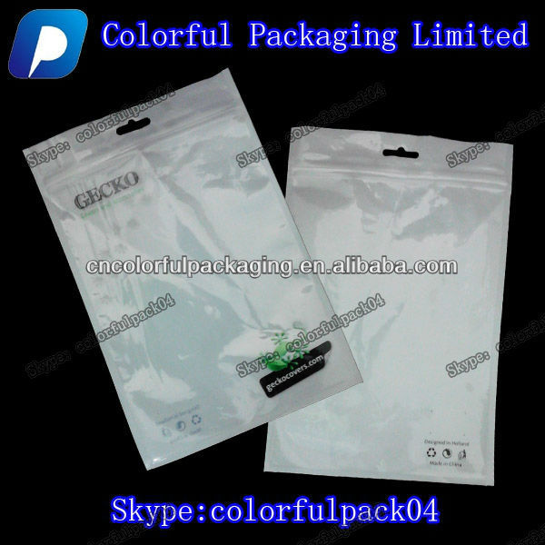 Electronic Product Packaging Bag with zipper/zipper bag with see-though window