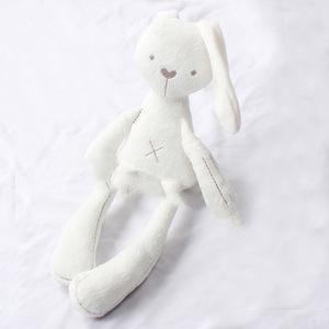 Baby Gift Cute Kids Animal Soft Organic Rabbit Toys Sleeping Comfort Doll Plush Toy for infant