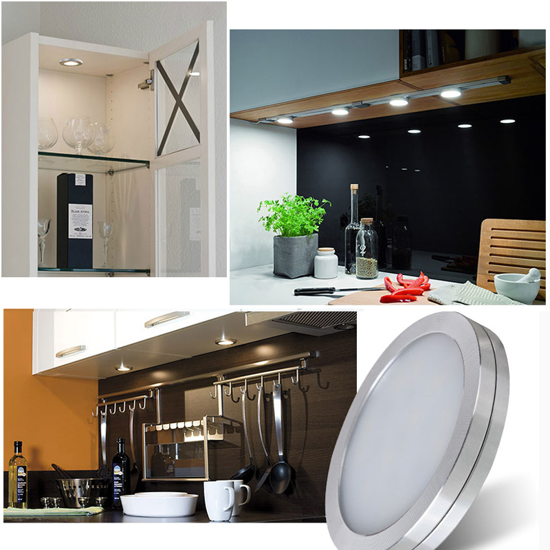 RGBW RGB+White LED Under Cabinet puck Light 6 Lamps with IR Remote Control Dimmable for Kitchen Accent Decoration Lighting