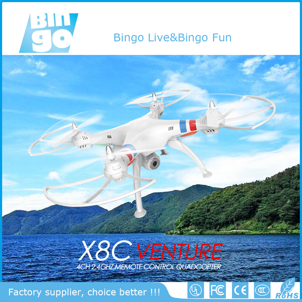 Bingo SYMA X8C Venture FPV Real-time 4-Channel 2.4GHz 6 Axis Gyro Headless RC Quadcopter with 2MP Camera