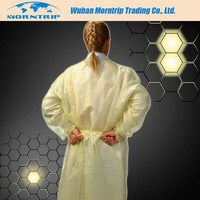 Yellow Isolation Gown,Sms Isolation Gown,Disposable Isolation Gown Product