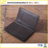 2015 High Quality Excellent Price Promotional PU Name Card Case Embossed Promotional Leather Credit Card Holder