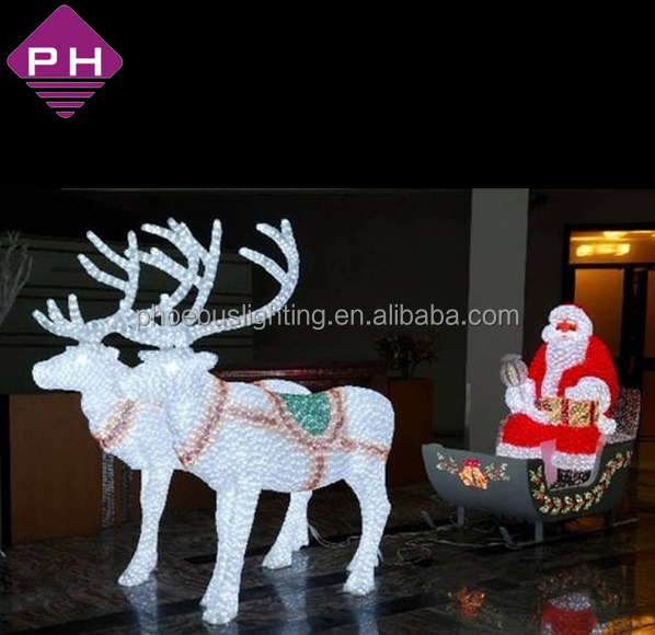 Shopping Mall Decoration Christmas Outdoor Santa Sleigh Buy Reindeer Led