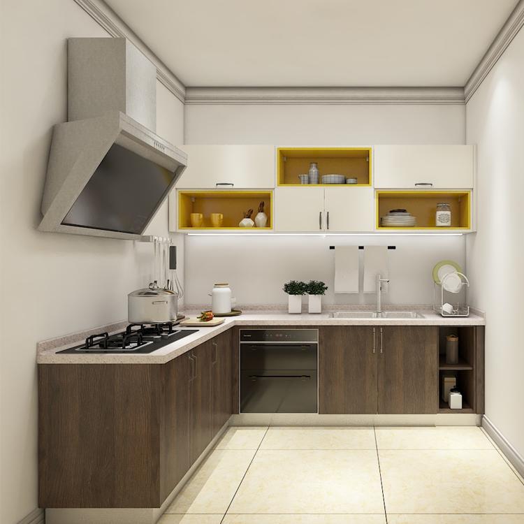 Ethiopia Small Cheap Kitchen Cabinet Design Modern I Shape ...