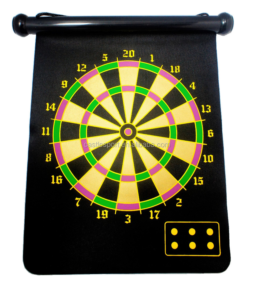 Portable Scroll Soft Magnetic Dart Board Double Sided