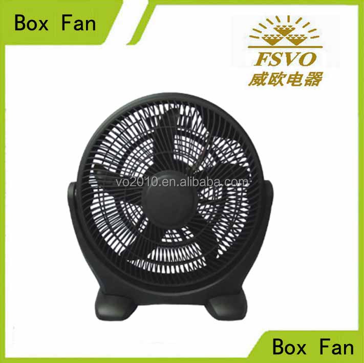 Stand box fan series 20 inch black color 5 ox blade Plastic electric fan