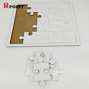 20 jigsaws Printable Blank Sublimation Wood MDF Puzzle with Wooden Tray