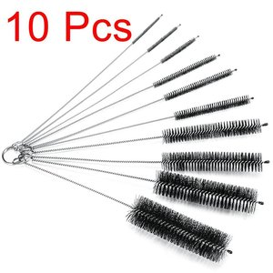 Cleaner For Narrow Neck Bottles Cups With Hook 10 Piece Brush Set
