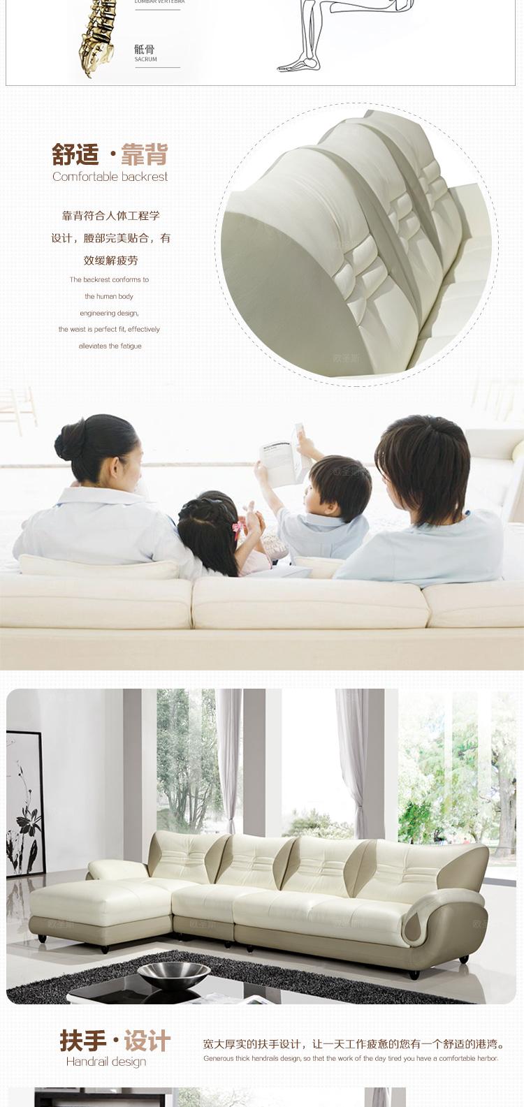 Turki Sofa Furniture Mengkilap Kulit Hitam Dan Putih Modern L