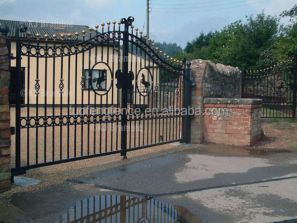 Porte en m tal villa de luxe en fer forg d coratif en fer forg en acier porte principale porte for Porte villa en fer