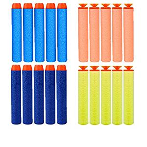 20 Pcs/lot N-strike Elite Rampage Retaliator Series Blasters Refill Clip Darts Toy Electric Gun Soft Bullets Foam Darts for Elite Nerf Gun Centurion Sniper Blaster Kid Toy Gun