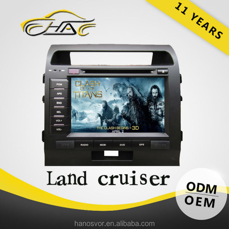 Double din car gps dvd for toyota land cruiser oem radio