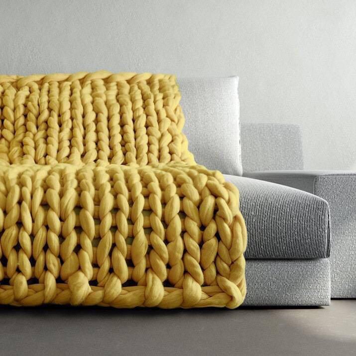 Diy Giant Blanket Arm Knitting 100% Australia Merino Wool Top ...